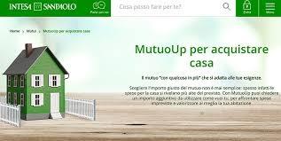 schermata sito ufficiale mutuo up intesa sanpaolo