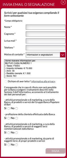 invio email mutuo banca bpb
