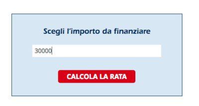 schermata sito ufficiale richiesta prestito 30 mila euro agos
