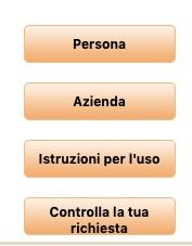 seleziona utenza per richiesta informazioni crif
