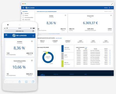 schermata re lender