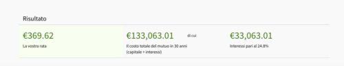 calcola rata mutuo con busta paga 1000 euro