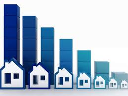grafico a barre crescente con modelli di case
